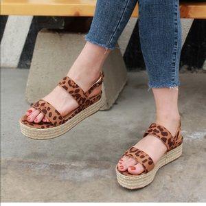 Shoes - 5.5 Leopard Espadrille sandal